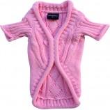Pullover en tricot rose