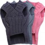 Pullover en tricot gris
