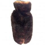 Manteau FIRST ELEGANCE façon cuir rouge orangé