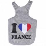 "Tee shirt  ""I Love France"""