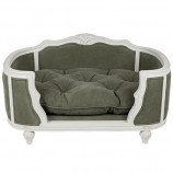Luxury dog sofa Arthur stonewashed army green