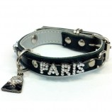 Collier PARIS STRASS noir
