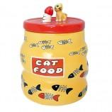 Boîte friandises chat céramique