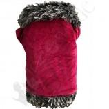 Veste d'hiver velours rose vif