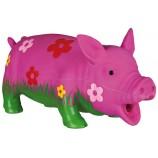 Cochon à fleurs rose