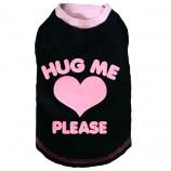 "T-Shirt ""Hug me please"" GRIS"
