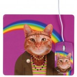 SET TAPIS SOURIS CHAT DISCO